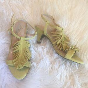 Aerosoles Heelrest Charade fringe kitten heels